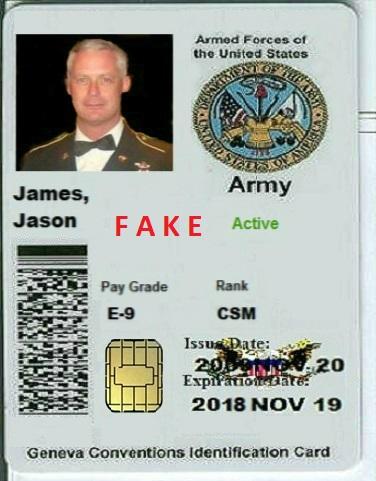 Army-Ausweis Fake